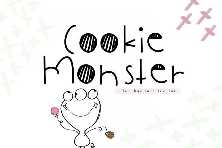 Cookie Monster - A Cute Handwritten Font