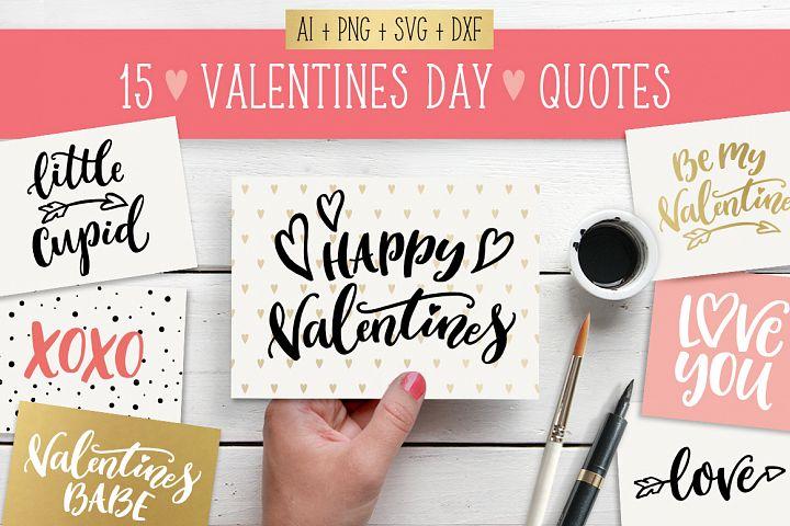 Valentines Day quotes SVG bundle