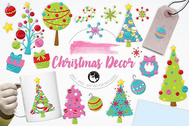 Christmas Décor graphics and illustrations