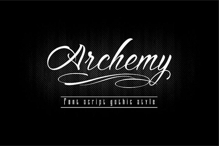 Archemy Font Script