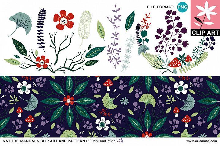 Nature Mandala: Clip Art & Pattern