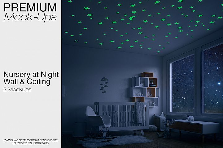 Nursery at Night - Wall & Ceiling