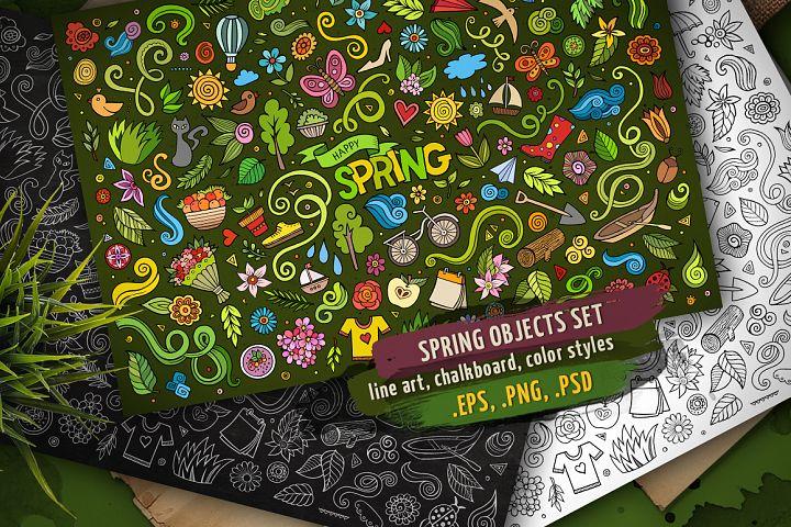Spring Objects & Symbols Set