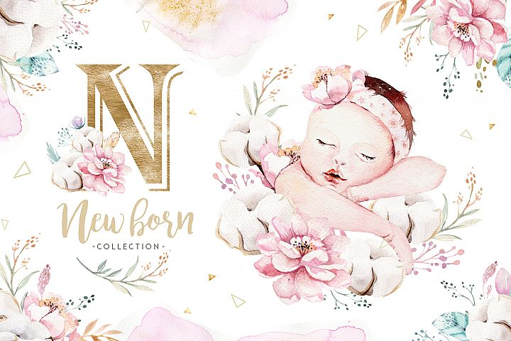 Newborn baby collection.