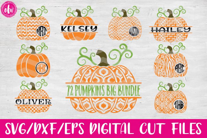 Halloween Pumpkins Big Bundle (72) - SVG, DXF, EPS Cut Files