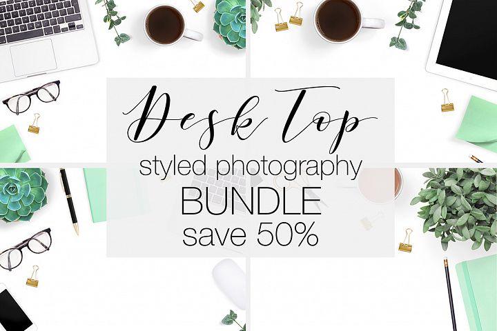 Desk Top View Stock Photography Bundle