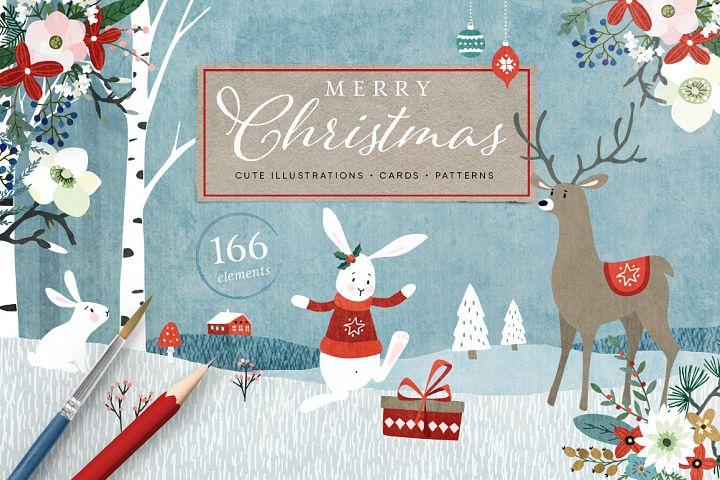 Merry Christmas set, 166 elements
