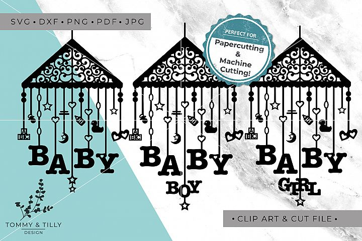 Baby Mobile Bundle - SVG DXF PNG EPS JPG PDF Cutting File example 6
