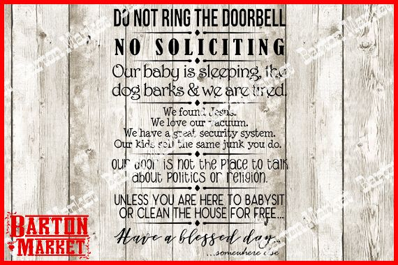 Do Not Ring The Doorbell SVG / EPS / PNG