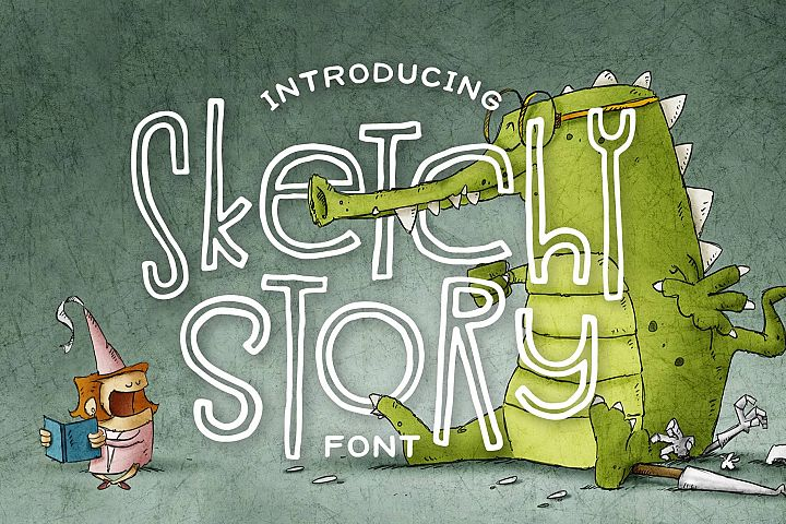 Sketchy Story Font
