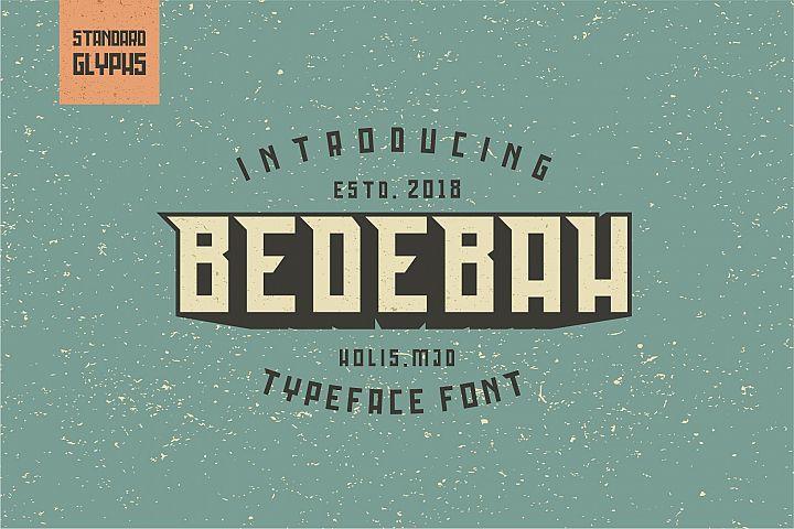 Bedebah Typeface