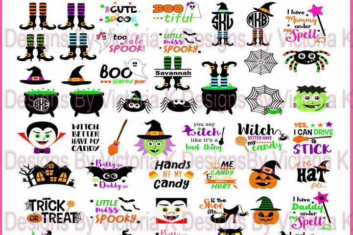 Halloween Bundle, Pumpkins, Witches, Ghosts, Spooky,  SVG, DXF, EPS Files, Cricut Design Space, Vinyl Cut Files