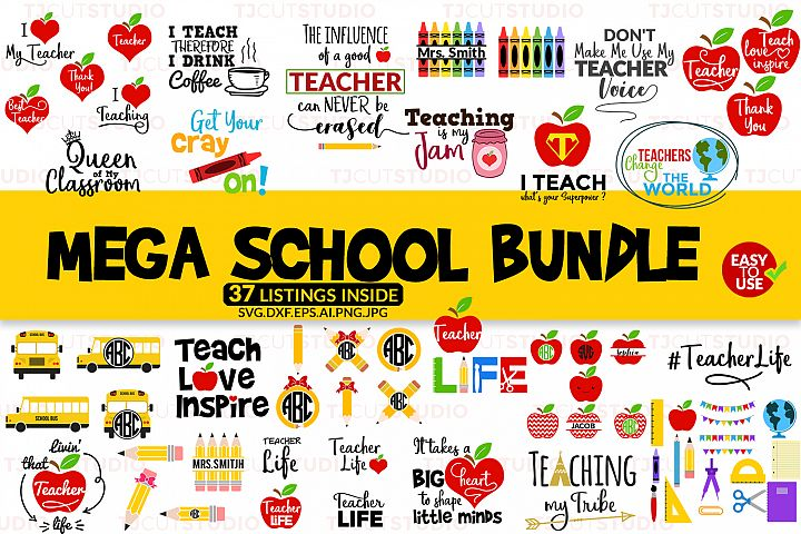 School Bundle svg, Mega School Bundle svg