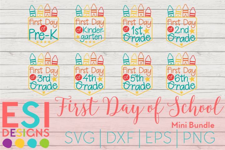 First Day of School Mini Bundle |SVG DXF EPS PNG Cut Files