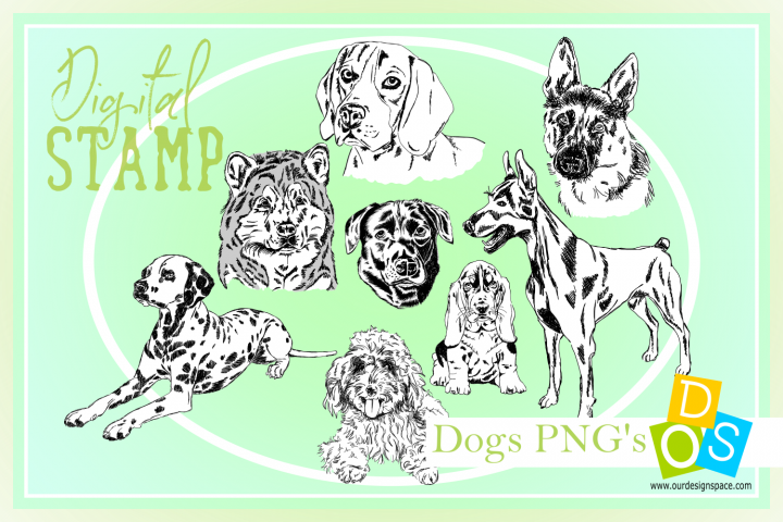Dogs Digital Stamps