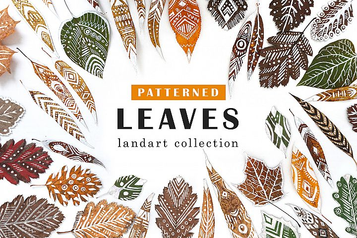 Patterned Leaves - Landart collection