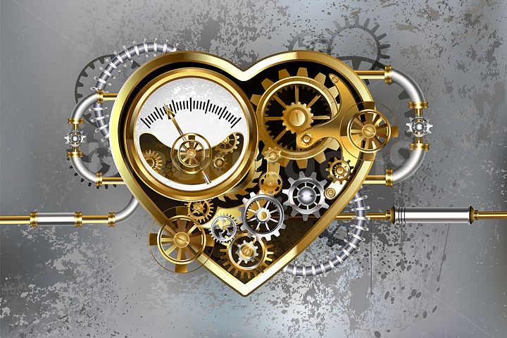 Steampunk Heart with Manometer