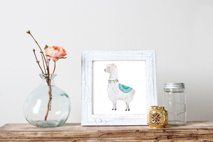 Watercolor Llamas example 4
