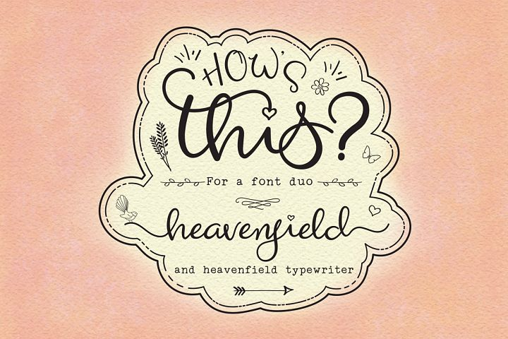 Heavenfield wedding font duo