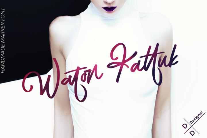Waton Kattuk Script Font
