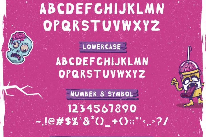 Brain Melt Layered Typeface - Free Font of The Week Design 1