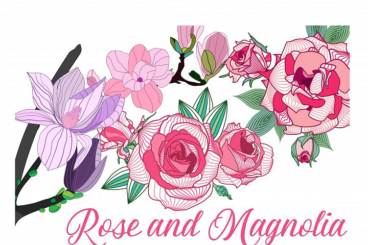 Roses and Magnolia