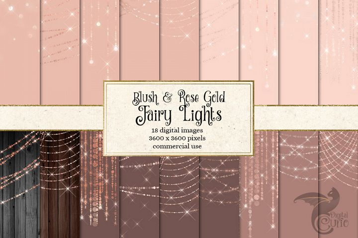 Blush and Rose Gold Fairy Lights