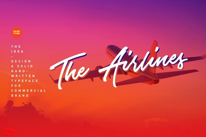 The Airlines - Free Font of The Week Design 2