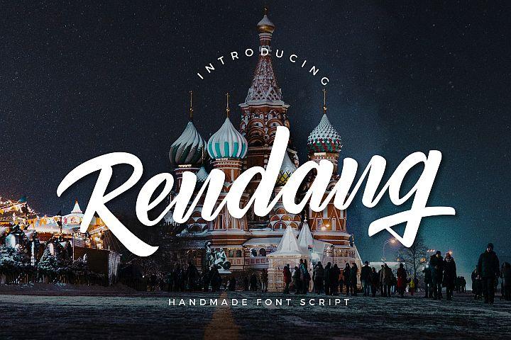 Rendang - Handmade Font