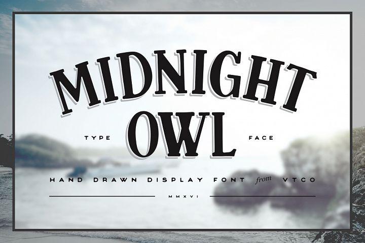 Midnight Owl Display Font
