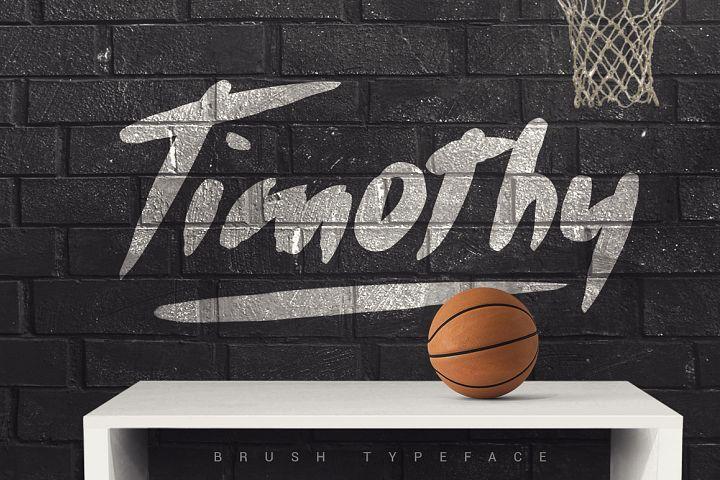 Timothy Brush Typeface [-30% Intro]