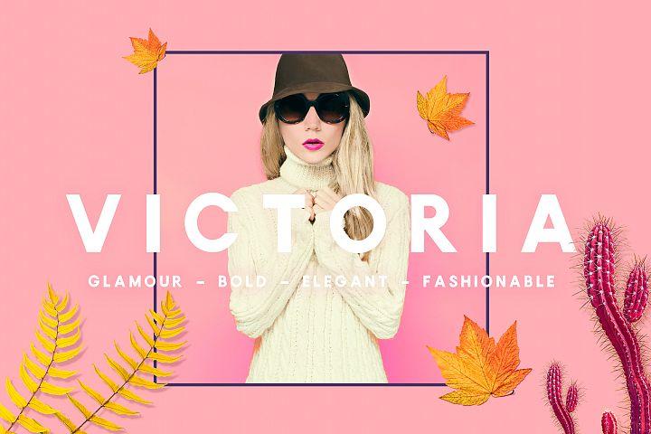 Victoria Sans Serif  Font - Glamour, Elegant Headline Typeface