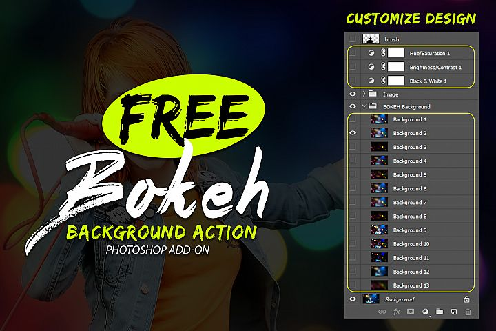 Free Bokeh Photoshop Action example 2