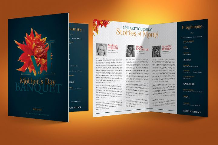 Mothers Day Banquet Brochure