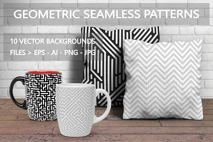 Seamless striped geometric patterns