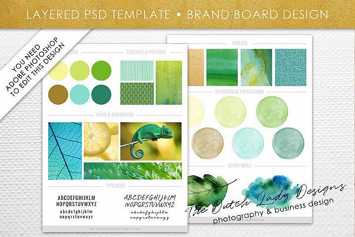 PSD Brand & Design Board Template - Design #2