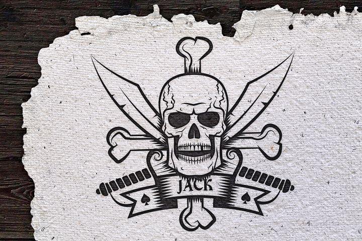 Jolly Roger bones & sabers
