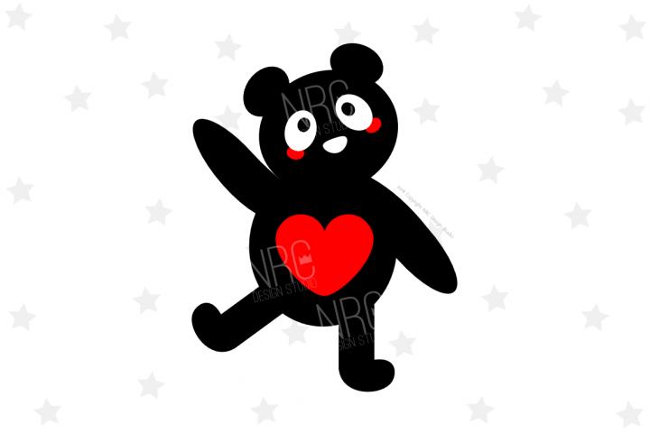 Panda Silhouette SVG File