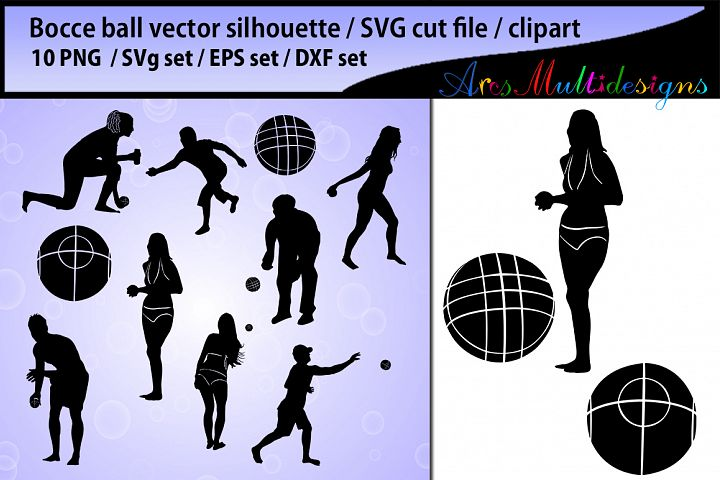 bocce silhouette Svg / bocce ball clipart / bocci ball / bocce ball players / sports / bocce ball SVG EPS DXF and PNg files
