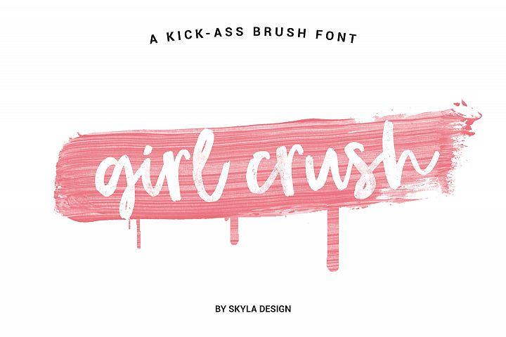 Bold modern brush font, Girl Crush