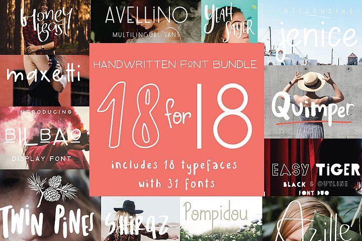 18 for 18 | Font Bundle for 2018