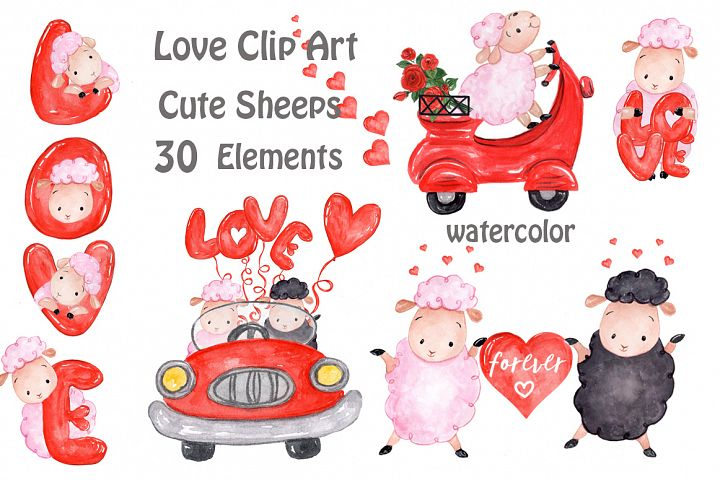 Love clipart Cute Sheep clipart