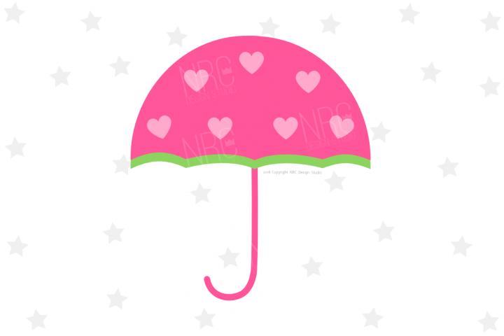 Heart Umbrella SVG File