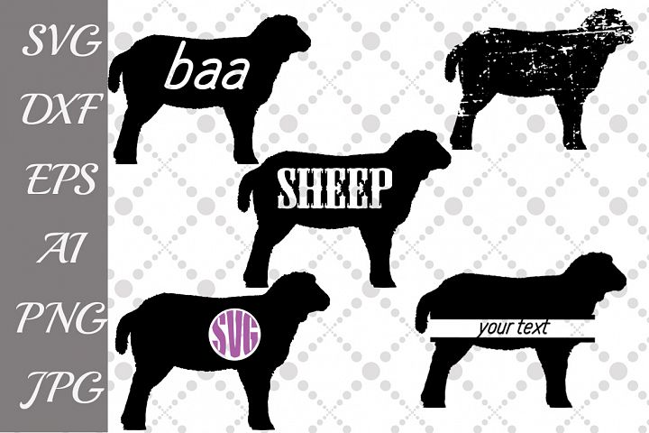 Sheep Svg,FARM SVG, Farm Animal Svg,Sheep Monogram Svg