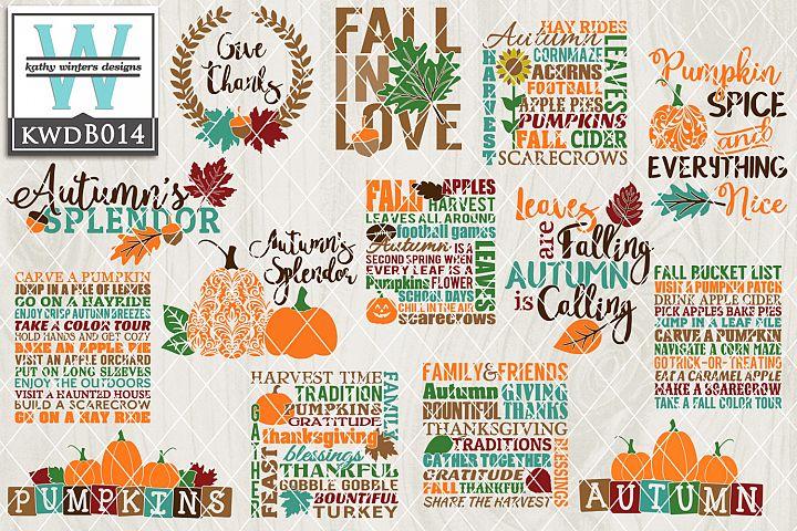BUNDLE Autumn Cutting Files KWDB014