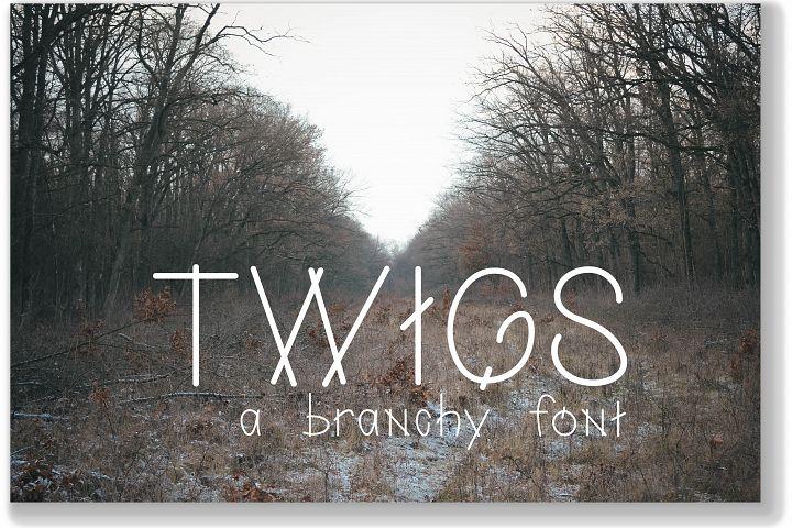 Twigs: A Branchy Font