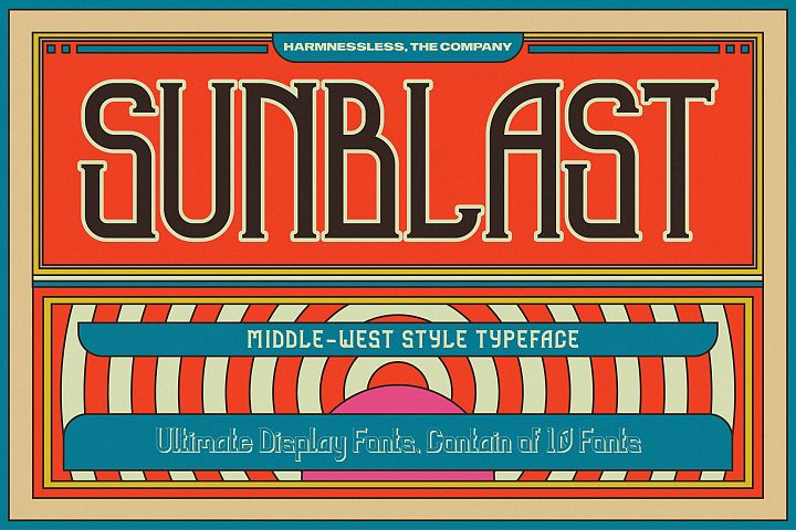 Sunblast Display Typeface