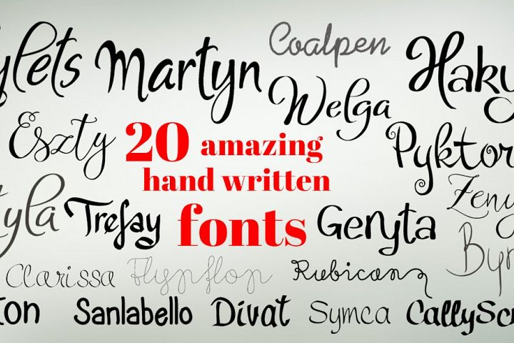 20 amazing handwritten fonts