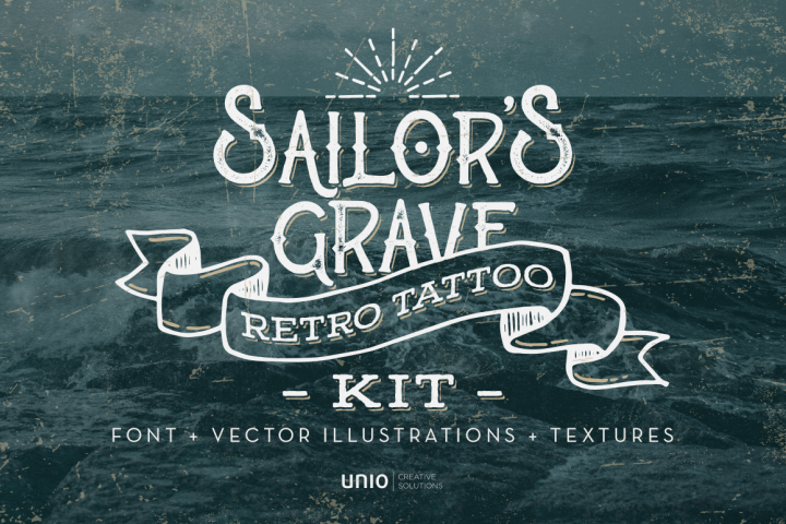 Sailors Grave - Retro Tattoo Kit