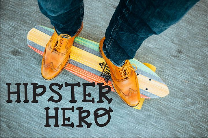 Hipster Hero - A Trendy Hand-lettered Font